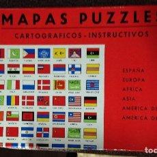 Puzzles: MAPAS PUZZLES . CARTOGRAFICOS INSTRUCTIVOS . 6 PUZZLES AÑOS 60/70. Lote 127574355