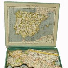 Puzzles: 1917C PUZZLE JIGSAW ROMPECABEZAS GEOGRÁFICO DE PALUZIE. Lote 127828303