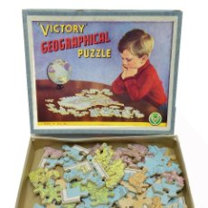 Puzzles: 1950C PUZZLE JIGSAW ROMPECABEZAS GEOGRÁFICO DE VICTORY. Lote 127828419