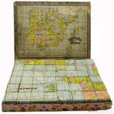Puzzles: 1939 O ANTERIOR PUZZLE ROMPECABEZAS GEOGRÁFICO GRANDE (48 CUBOS). Lote 127828611
