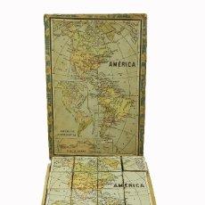 Puzzles: 1917C PUZZLE ROMPECABEZAS GEOGRÁFICO 24 CUBOS. Lote 127829187
