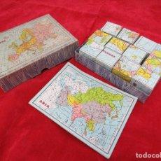 Puzzles: CUBOS ROMPECABEZAS MAPAMUNDI ENRIQUE BORRAS - AÑOS 50 60 - ESPAÑA ASIA EUROPA AFRICA AMERICA OCEANIA. Lote 129139863