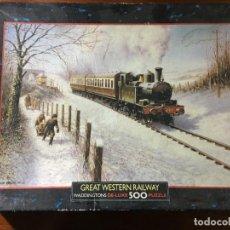 Puzzles: PUZLE DE 500 PIEZAS DE TREN GREAT WESTERN RAILWAY DE WADDINGTONS. Lote 130521966