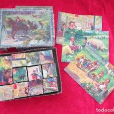 Puzzles: ROMPECABEZAS PUZZLE CUBOS ANTIGUO - POSIBLE BORRAS. Lote 130603598
