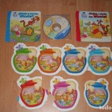 Puzzles: WINNIE THE POOH.LOTE.PUZZLE.CD.2 CUENTOS.INFANTIL.DISNEY.TIGER.PIGLET.JUEGO. Lote 130633930