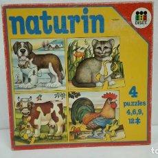 Puzzles: NATURIN 4 PUZZLES DISET AÑOS 70-80-PRECINTADO. Lote 130815452