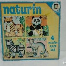 Puzzles: NATURIN 4 PUZZLES DISET AÑOS 70-80-PRECINTADO Nº 2. Lote 130815476