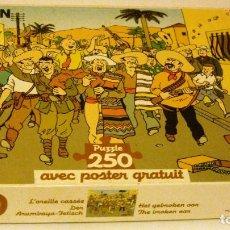 Puzzles: TINTIN PUZZLE DE 250 PIEZAS - LA OREJA ROTA. Lote 131026764