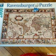 Puzzles: PUZZLE MAPA MUNDI 2000 PIEZAS DE RAVENSBURGER 98X75 CM. Lote 131680518