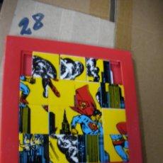 Puzzles: ANTIGUO PUZZLE FICHAS EN TAPETE DE SUPERMAN. Lote 133056170