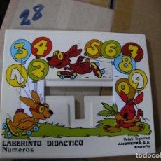 Puzzles: ANTIGUO PUZZLE LABERINTO DIDACTICO - NUMEROS. Lote 133057382