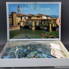 Puzzles: PUZZLE PONTE VECCHIO FLORENCIA EDUCA 750 PIEZAS INCOMPLETO FALTAN 6 PIEZAS. Lote 133105762