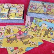 Puzzles: ANTIGUO ROMPECABEZAS CUBOS CARTON INFANTIL - AÑOS 40 -50. Lote 133556974