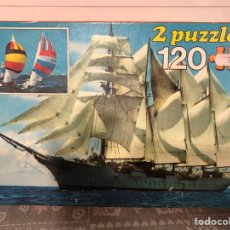 Puzzles: 2 PUZZLES ANTIGUOS 120 PIEZAS BUQUE ESCUELA J. S.. Lote 133682881