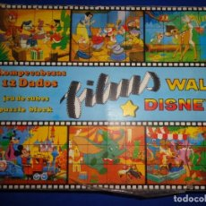 Puzzles: ROMPECABEZAS FILMS WALT DISNEY, 12 DADOS, JUGUETES PIQUE, MADE IN SPAIN, VER FOTOS Y DESCRIPCION! SM. Lote 133957198