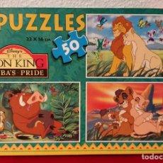 Puzzles: 3 PUZZLE REY LEÓN DISNEY EDUCA 50 PIEZAS 22X16CM. Lote 134441738