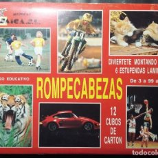 Puzzles: ROMPECABEZAS 12 CUBOS DE CARTON MUÑECAS SAICA SL. Lote 135226678