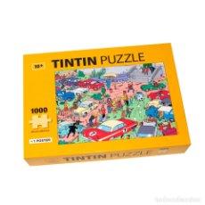 Puzzles: TINTIN PUZZLE 1000 PIEZAS RALLY EN EL CASTILLO DE MOULISART CON POSTER 50X66,5CM (REF. #81546). Lote 137719645