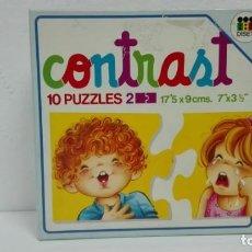 Puzzles: PUZZLE CONTRAST 10 PUZZLES DISET AÑOS 80-ALMACEN . Lote 137868050