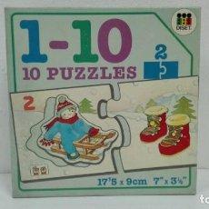 Puzzles: PUZZLE 1_10 (10 PUZZLES) DISET AÑOS 80-ALMACEN . Lote 137868066