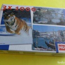 Puzzles: PUZZLE 3 X 1000 - MUNDO - JUGUETE DE TOYS R IBERIA - NUEVO EN SU CAJA PRECINTADA CON SU PLASTICO. Lote 140011790
