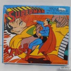 Puzzles: PUZZLE, SUPERMAN KRASH, DC COMICS 1977, 180 PIEZAS, WHITMAN, MADE IN ENGLAND. Lote 140225126