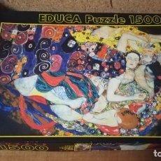 Puzzles: PUZZLE EDUCA 1500 PIEZAS, LA VIRGEN, G.KLIMT. Lote 140462142