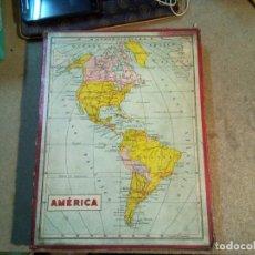 Puzzles: ANTIGUO PUZZLE ROMPECABEZAS .CUBOS DE CARTON AMERICA. Lote 141414026