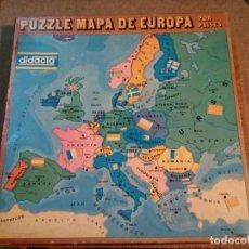 Puzzles: PUZZLE MAPA DE EUROPA POR PAISES DIDACTA. Lote 141420902