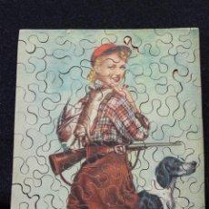 Puzzles: ANTIGUO PUZZLE DE PIEZAS DE MADERA. ESCENA CAZA. Lote 141823194