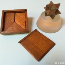 Puzzles: CLÁSICO PUZZLE (TANGRAM) EN MADERA DE ROBLE. Lote 142865110