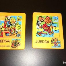 Puzzles: LOTE DOS PUZZLES. MORTADELO Y FILEMÓN / EL BOTONES SACARINO. MARCA JUEGA. AÑOS 80. Lote 143158234