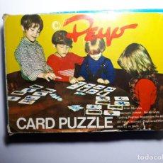 Puzzles: PEYO CARD PUZZLE - PITUFOS - AÑOS 70 (RARO). Lote 144519110