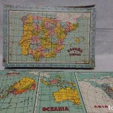 Puzzles: ANTIGUO PUZZLE PUZLE ROMPECABEZAS GEOGRÁFICO CUBOS DE CARTÓN . Lote 144655342