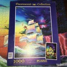 Puzzles: PUZZLE PUZLE 1000 PIEZAS FLUORESCENTE COMPLETO. Lote 145366306