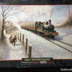 Puzzles: PUZZLE PUZLE 500 PIEZAS TREN EN LA NIEVE GREAT WESTERN RAILWAY - COMPLETO. Lote 145366502