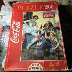 Puzzles: PUZZLE PUZLE 1500 PIEZAS EDUCA COCA COLA - INCOMPLETO LE FALTAN 4 PIEZAS -. Lote 145366750