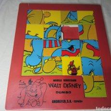 Puzzles: ANTIGUO PUZZLE WALT DISNEY DE DUMBO - ANDREFER - PIEZA DE COLECCIONISTA. Lote 145933526