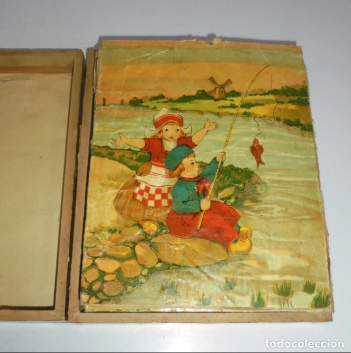 Puzzles: ANTIGUO ROMPECABEZAS. CUBOS DE CARTON. CADA CARA UNA IMAGEN. LITOGRAFIAS. VER - Foto 3 - 146492546