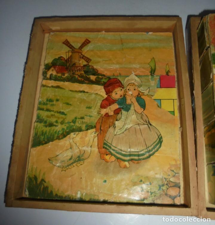 Puzzles: ANTIGUO ROMPECABEZAS. CUBOS DE CARTON. CADA CARA UNA IMAGEN. LITOGRAFIAS. VER - Foto 4 - 146492546