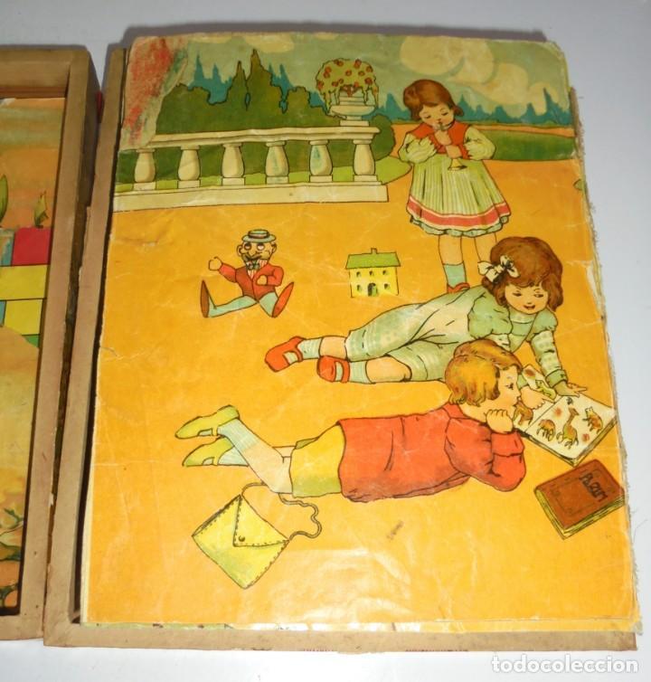 Puzzles: ANTIGUO ROMPECABEZAS. CUBOS DE CARTON. CADA CARA UNA IMAGEN. LITOGRAFIAS. VER - Foto 5 - 146492546