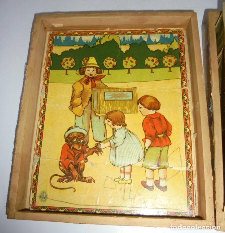 Puzzles: ANTIGUO ROMPECABEZAS. CUBOS DE CARTON. CADA CARA UNA IMAGEN. LITOGRAFIAS. VER - Foto 6 - 146492546