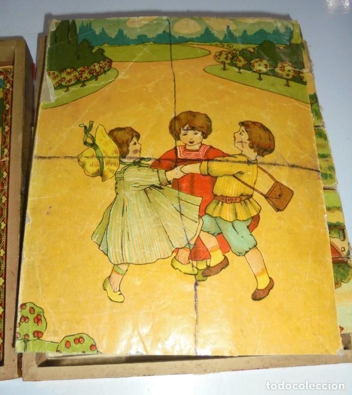 Puzzles: ANTIGUO ROMPECABEZAS. CUBOS DE CARTON. CADA CARA UNA IMAGEN. LITOGRAFIAS. VER - Foto 7 - 146492546