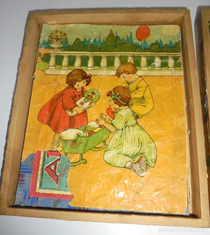 Puzzles: ANTIGUO ROMPECABEZAS. CUBOS DE CARTON. CADA CARA UNA IMAGEN. LITOGRAFIAS. VER - Foto 8 - 146492546