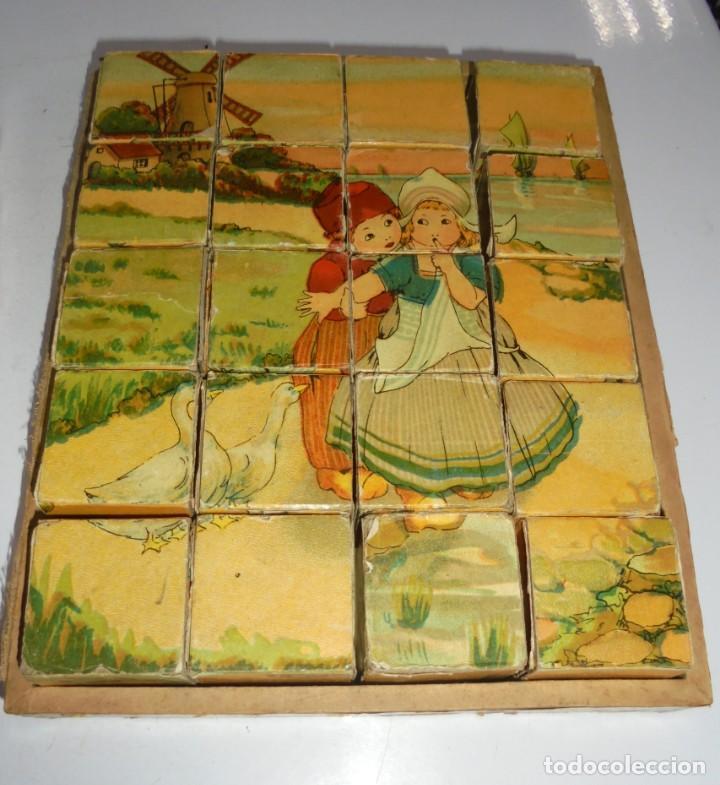 Puzzles: ANTIGUO ROMPECABEZAS. CUBOS DE CARTON. CADA CARA UNA IMAGEN. LITOGRAFIAS. VER - Foto 9 - 146492546