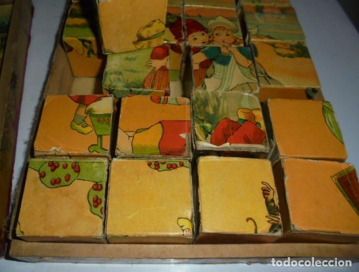 Puzzles: ANTIGUO ROMPECABEZAS. CUBOS DE CARTON. CADA CARA UNA IMAGEN. LITOGRAFIAS. VER - Foto 10 - 146492546