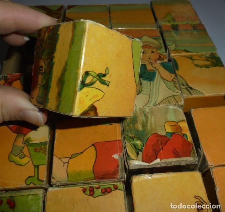 Puzzles: ANTIGUO ROMPECABEZAS. CUBOS DE CARTON. CADA CARA UNA IMAGEN. LITOGRAFIAS. VER - Foto 11 - 146492546