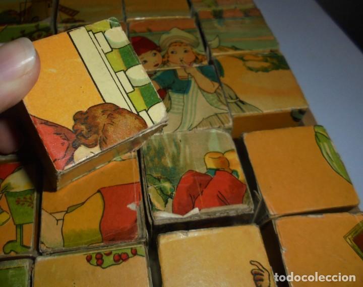 Puzzles: ANTIGUO ROMPECABEZAS. CUBOS DE CARTON. CADA CARA UNA IMAGEN. LITOGRAFIAS. VER - Foto 12 - 146492546