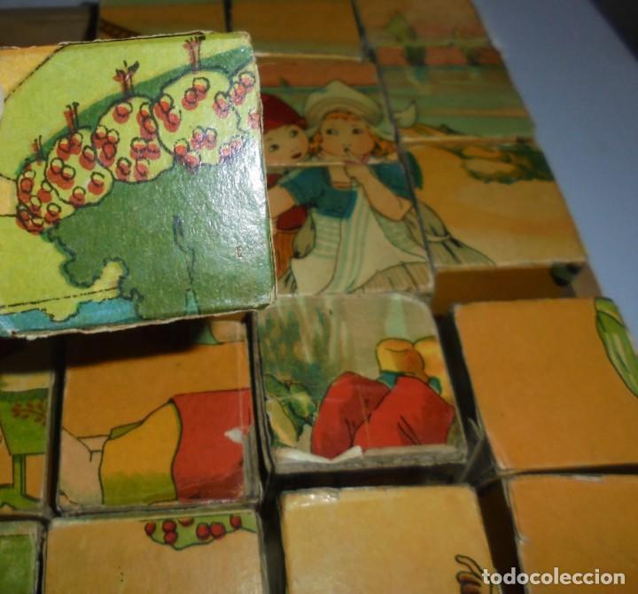 Puzzles: ANTIGUO ROMPECABEZAS. CUBOS DE CARTON. CADA CARA UNA IMAGEN. LITOGRAFIAS. VER - Foto 13 - 146492546