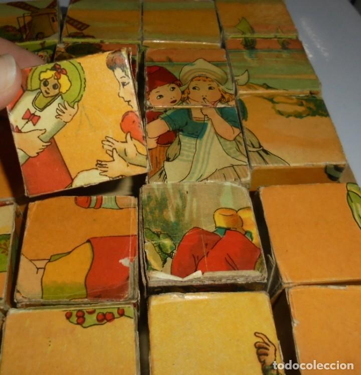 Puzzles: ANTIGUO ROMPECABEZAS. CUBOS DE CARTON. CADA CARA UNA IMAGEN. LITOGRAFIAS. VER - Foto 14 - 146492546